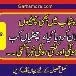خوشخبری ،صوبہ پنجاب میں بھی گرمیوں کی چھٹیوں کا اعلا ن کردیاگیا