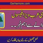 سعودی عرب سے ویزا فیسوں کے بارے میں پاکستانیوں کے لئے اہم خبر