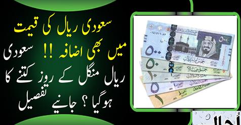 سعودی ریال کی قیمت میں بھی اضافہ …… سعودی ریال منگل کے روز کتنے کا ہوگیا ؟ جانیے تفصیل