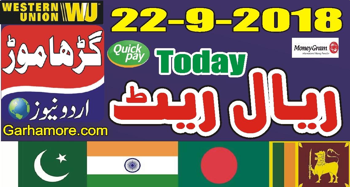 آج کا ریال ریٹ(پاکستان ، بھارت ، بنگلہ دیش ، نیپال)