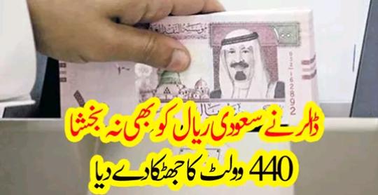ڈالر نے سعودی ریال کو بھی نہ بخشا، 440 وولٹ کا جھٹکا دے دیا…..