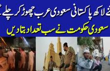 کتنے لاکھ پاکستانی سعودی عرب چھوڑ کر پاکستان چلے گئے،تفصیل جانئے
